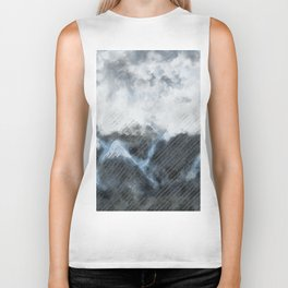 Stormy Mountains Biker Tank