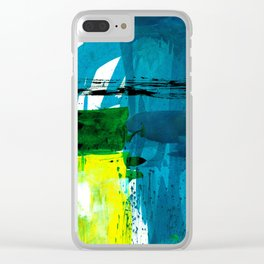 Teal Splendor No.1a by Kathy Morton Stanion Clear iPhone Case
