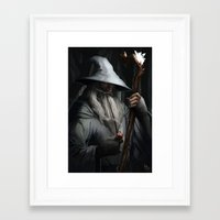gandalf Framed Art Prints featuring Gandalf by MATT DEMINO