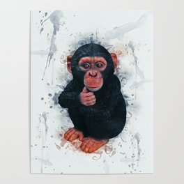 Chimpanzee Art Poster