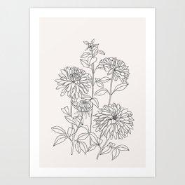 Botanical illustration print - Lara I Art Print