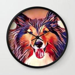 The Shetland Collie Wall Clock