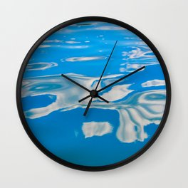 Clouds on Water Wall Clock