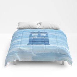 TARDIS Under the Sea - Doctor Who Digital Watercolor Comforters