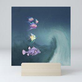 Tropical Fish and Wave Mini Art Print