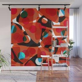 orange 70s Wall Mural