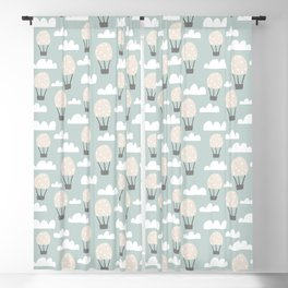 black and white Scandi Animals Prints patterns Blackout Curtain