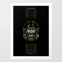 friday night lights Art Prints featuring Friday Night Lights  by Panda Kero