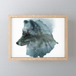 Mountain fox Framed Mini Art Print