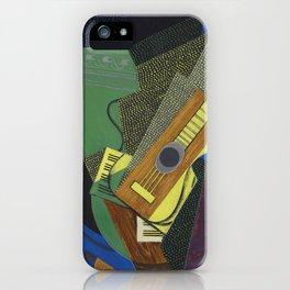 """Juan Gris """"Guitare sur une table (Guitar on a table)"""" iPhone Case"""