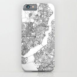 Istanbul White Map iPhone Case