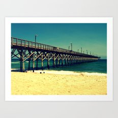 Surf City Pier Art Print