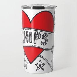 I Heart Chips Travel Mug