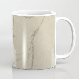 Minimalist Nude Woman Figure Female Gesture Drawing Sketch Long Vertical Coffee Mug