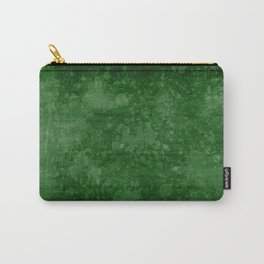 Old green wall with splatter Carry-All Pouch