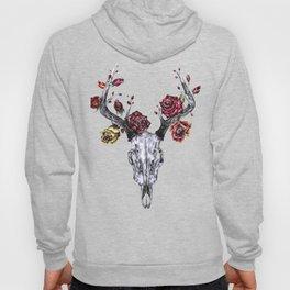 Deer Skull with Roses Hoody