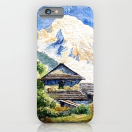 Old House By The Mountain iPhone Case