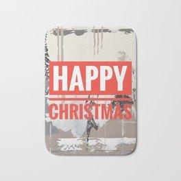 Snowfall - Happy Christmas Bath Mat