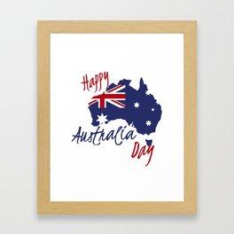 Happy Australia Day 2018 Framed Art Print