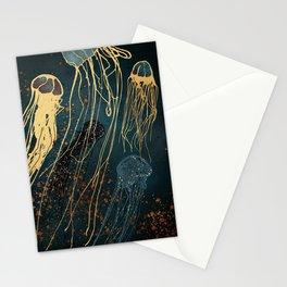 Metallic Jellyfish Stationery Cards