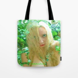 Nude sexy blond wet fairy wood nymph lady kashmir  Tote Bag