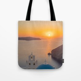 Three Bells Santorini Tote Bag