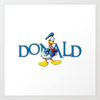 donald duck Art Prints featuring Donald Duck by Maxvision