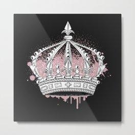 Crown graffiti Metal Print