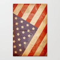 patriotic Canvas Prints featuring Patriotic  by Cloz000