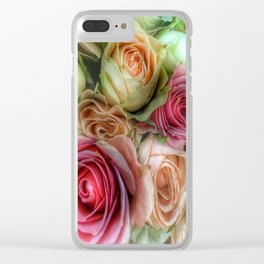 Roses - Pink and Cream Clear iPhone Case