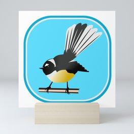Fantail NZ BIRD Mini Art Print