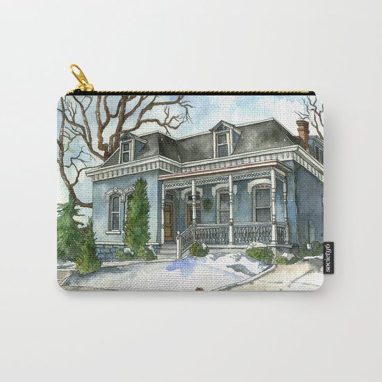 A Cozy Winter Cottage Carry-All Pouch