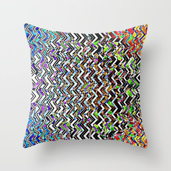 CHEVROMELT Throw Pillow