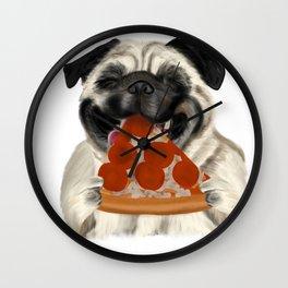 Pug Pizza Wall Clock