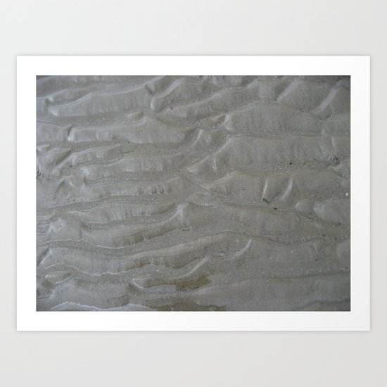 Ripples in the sand (one) Art Print