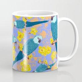 Spix Macaw Flower Power Coffee Mug