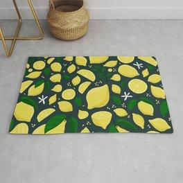 Lemons floral pattern Rug