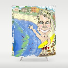 Greetings from Dr. Chris on Bondi Beach! Shower Curtain