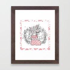 Holiday Joy: Peace Framed Art Print