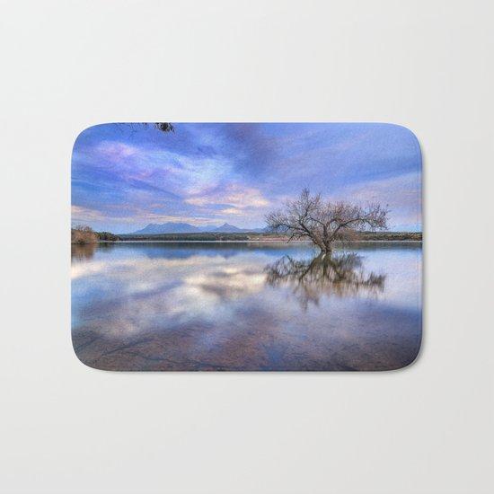 """Magic tree II"" Magic reflections at the lake. Bath Mat"