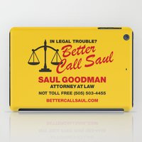 better call saul iPad Cases featuring Better Call Saul  by Laundry Factory