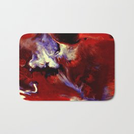 Abstract, Red, White, Violet, Black (CA17036C) Bath Mat