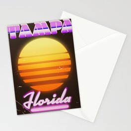 Tampa Florida 1980s travel poster Stationery Cards