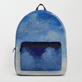 Dark Blue Cloud Painting Backpack