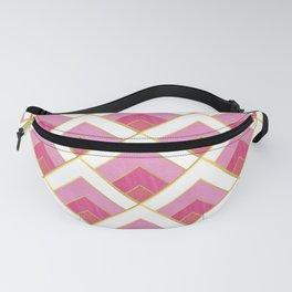 Pink and Gold Diamond Art Deco Pattern Fanny Pack