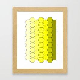 Hexagons (Yellow) Framed Art Print
