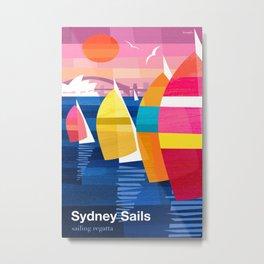 Sailing Regatta poster Metal Print