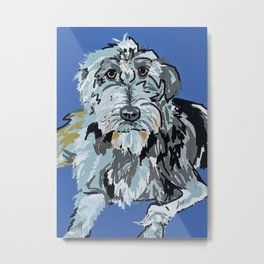 Irish Wolfhound Dog Portrait Metal Print