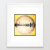 "san diego Framed Art Prints featuring ""San Diego"" by Chief Collective"