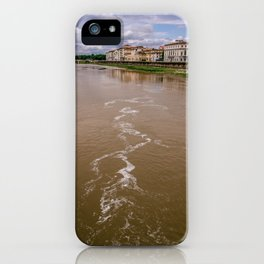 City of Florence, crossed by the Arno river. Typical Renaissance buildings of the city of Michelange iPhone Case